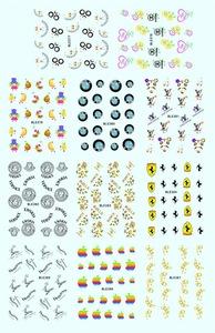 BLE366-531 Nail Salon Professional Products Cartoon Pirate Nail Art Eco-friendly Nail Tattoo Water Transfer Tips