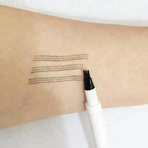 Hot selling eyebrow tattoo pen 3 tips 4tips brow pen
