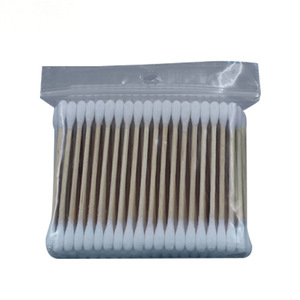 Hot-Selling high quality eco-friendly bamboo wooden stick 100pcs ear cleaning cotton buds