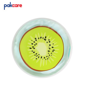 kids dino printed cold hot gel pack round  durable cake design soothing therapy microwave heated gel pad mini cooling ice pack