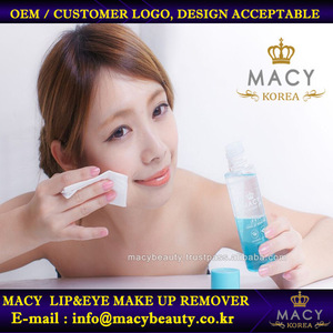 Korea quality macy makeup products/remover for lip and eye