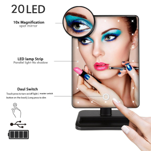 Makeup mirror with bluetooth speaker ABS cosmetic led mirror personalized smart touch screen amazon prime led makeup mirror w