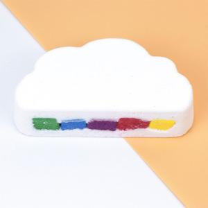 Organic Rainbow Cloud Bath Ball Essential Oil Bubble Bath Cloud Explosion Bath Salt Bombs