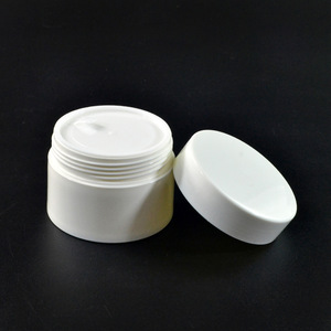 hot sale luxury round 30g 50g 100g 120g white pp plastic cosmetic jar for skin care cream