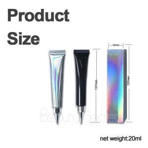 Hot selling cosmetics custom logo glitter glue makeup glitter primer for lip or eye