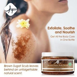 Hot Selling Deep Cleanse Natural Organic Body Skincare Brown Sugar Body Scrub