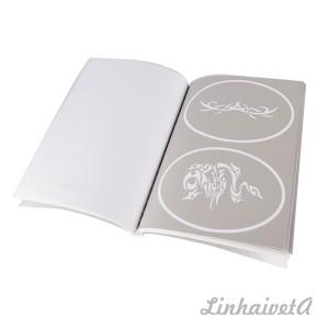 LinhaivetA Book 13 letter air brush adhesive stencils temporary airbrush tattoo