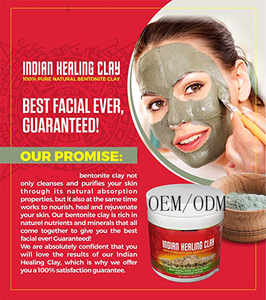 Private Label Indian Healing Clay Mask 100% Natural For Face&Body Mask Deep Pore Cleansing Removes Toxins