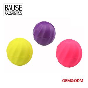 Private label promotional cute waterproof natural organic moisturizing round ball shape lip balm