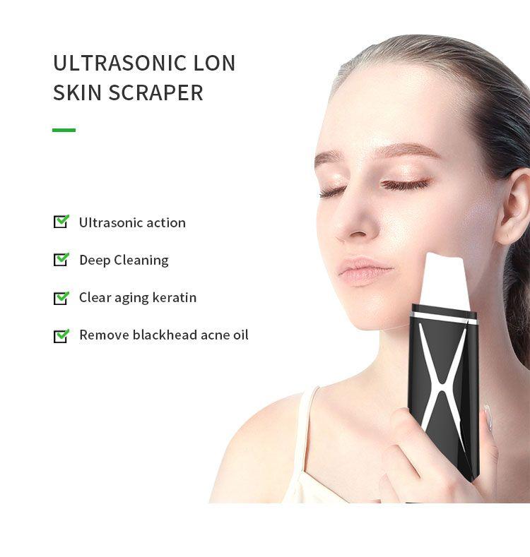 2020 Sainbeauty wang EMS Ultrasonic Ion Facial Scrubber Deep Cleaning Peeling Shovel