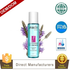 Bulk wholesale dark spot removal high quality lavender hydrosol for whole body