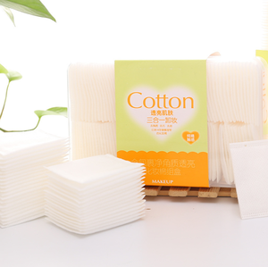 For Applying Lotion Removing Face or Eye Makeup and Nail Polish Square Facial Cosmetic Make Up Cotton Pad