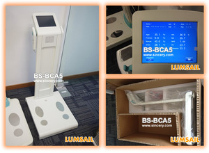 hot selling body composition analyzer evaluates visceral fat segmental fat distribution