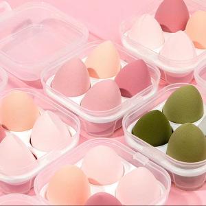 Latex Free Natural Super Soft 3d Beauty Sponge Blender Set Private Label Mini Foundation Makeup Sponge With Case