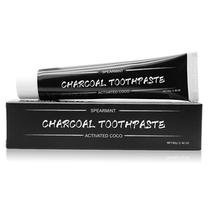 Natural Effective Teeth Cleaning Whitening Activated Charcoal Toothpaste With Fresh Mint Flavor