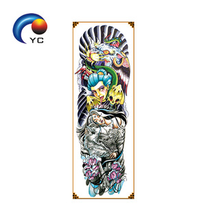 OEM Custom tattoo designs CMYK full arm sleeves temporary tattoo sticker,factory supply