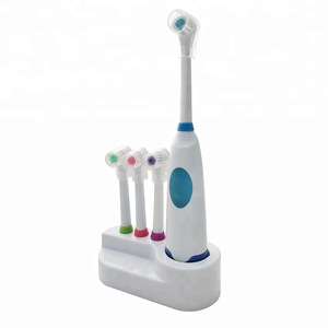 oral pop fresh white light up multi head substitutable oscillating electric irrigation toothbrush