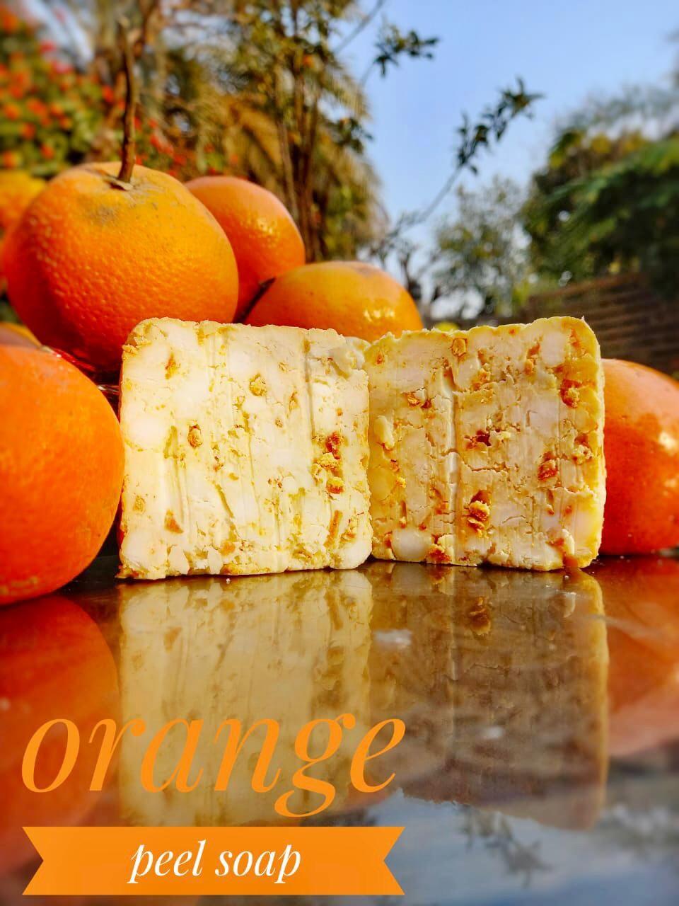 Limited edition Fibre Life's skin whitening Orange soap seasonal 100% organic bath and beauty soap
