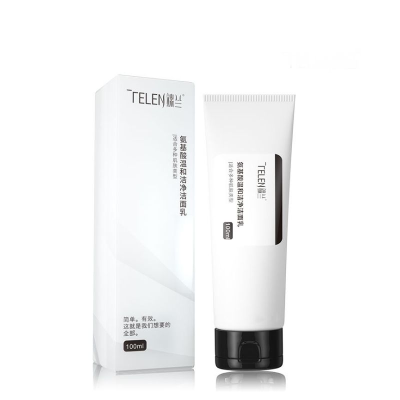 Telen OEM ODM Deep Cleansing Remove Blackhead Amino Acid Gentle Facial Cleanser