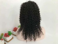 Unprocessed curly human hair wigs full lace