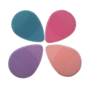 BPA Free Soft Silicone Facial Cleansing Scrubber Popular face makeup brush cleaner