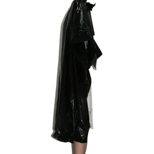 Fully enclosed protection black Disposable Hair Cutting Salon Use hairdressing cape