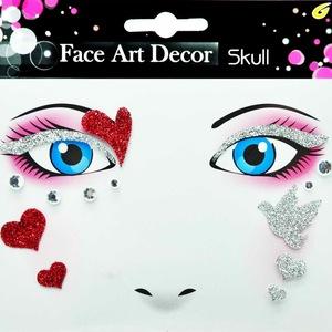 Heart Design Best Festival Choise Non-toxic Jewels Face Tattoo Sticker