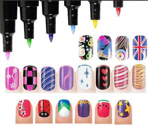 Hot Sale 3D Nail Art Pen For DIY Decorations 16 Colors Nail Polish Pen Set Painting Design Beauty Tools NA0009