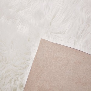 Hot sale customized color faux thick fur carpet rug with long hair
