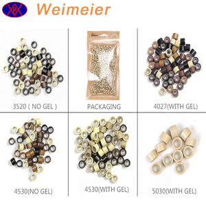 Silicone Micro Rings Links Beads tools For prebonded Hair Extensions 5 colors available