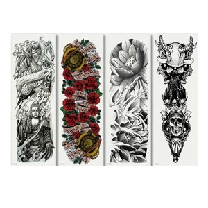 Tattoo Body Art Hot Stamping Non-Toxic Eco Full Arm Body Waterproof Temporary Tattoo Sticker