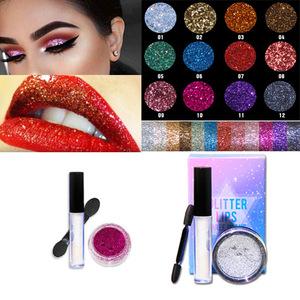 wholesale glitter lip gloss for eye glitter body shimmer glitter lipstick