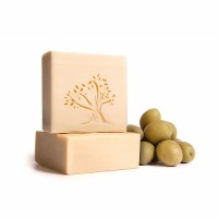 Le Joyau d'Olive - Luxury Pure Olive Oil Soap - Natural Handmade Bar for Face & Body - 1-Pack – Unscented bath bar