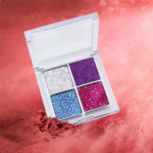 High fashion Private Label Shinning 4 Color Big High Quality Eyeshadow Low MOQ Blue Eyeshadow Palette