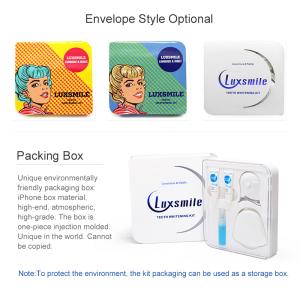 Huaer Luxsmile Peroxide Bleaching Gel Mini Led Home Teeth Whitening Kit