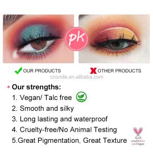 L44 Cosmetics glitter eyeshadow private label custom 18 colors makeup eyeshadow palette