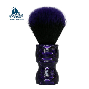 New type color resin handle honeycomb traditional shaving brush synthetic badger black