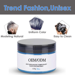 Private Label OEM Hair Styling Material Temporary Disposable Mud Hair Color Wax