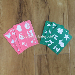 Temporary Waterproof color Tattoo Stickers Stencils For Painting Body Art