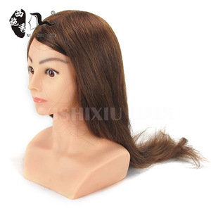 Wholesale price 100%human hair mannequin head with makeup