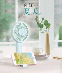 handheld Electric fan/ Can be placed on the desktop with a mobile phone holder base USB portable handheld small fan