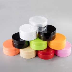 200ml 6oz Round PET Plastic Skin Care Makeup Products Container Lotion Cream Cosmetic Jar With Cap