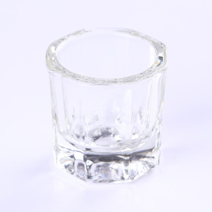 High Quality Crystal Glass  Dappen Dish Nail Art Acrylic Liquid Holder Container  For Nail Salon