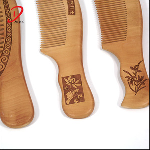 High quality custom logo wooden hair beard combs