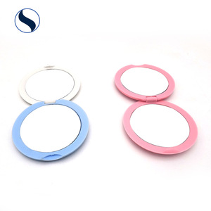 Magnification Foldable Travel Double Side Small Beauty Make Up Plastic Cosmetic Pocket Compact Makeup Mirror