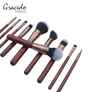 Wooden handle remarkable makeup brush set, professional brush kits
