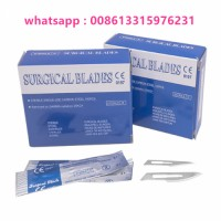 Dermaplaning Kit Sterile Blades No 10, Stainless Steel (100 Pcs) with Handle No 3 Suitable for Dermaplaning Facial