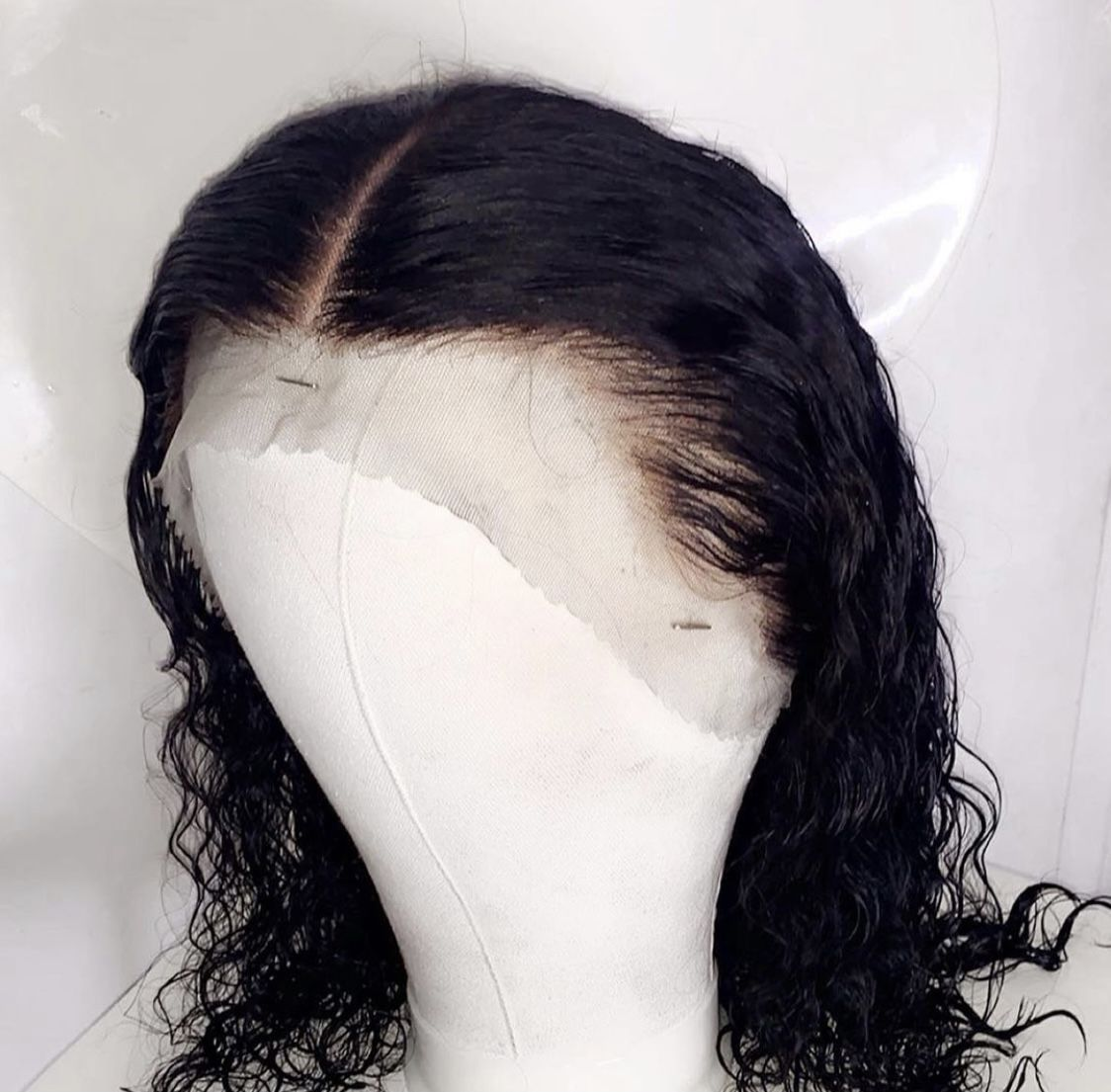 Brazilian 16 inch (more inches available) curly lacefront wig