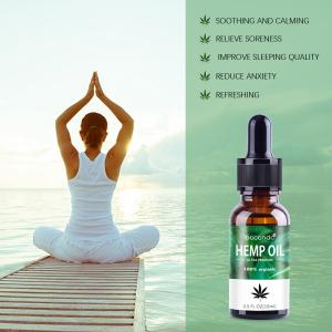 15ml Herbal Bio-active Hemp Cbd Oil Drops Seed Essential Oil Massage Essence Skin Care Help Sleep Natural Body Relieve Stress