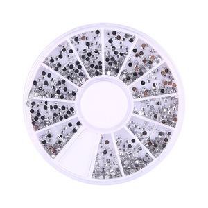 1800pcs Rhinestones Glitter 1.5mm Nail Art Tips Decoration Crystal Glitter Rhinestone Nail Tools With Wheel Nail Art Supplies